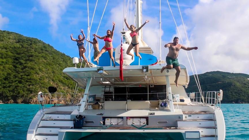 Family Sailing BVI catamaran